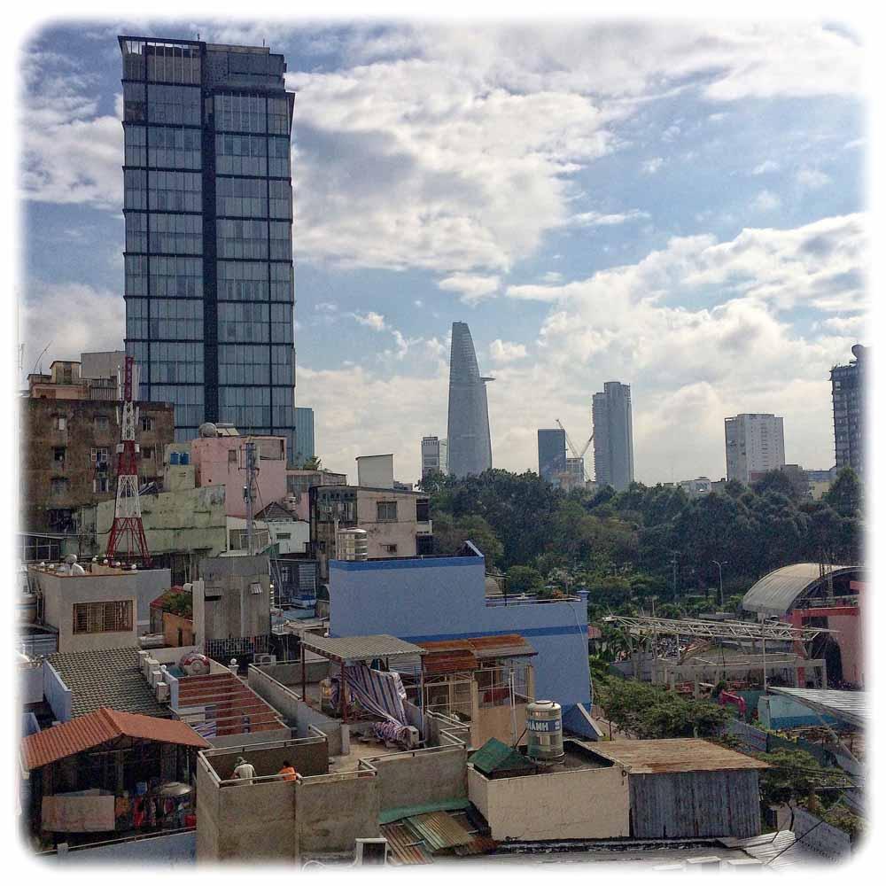 Blick auf einen Teil des Stadtzentrums von Saigon. Foto: Heiko Weckbrodt